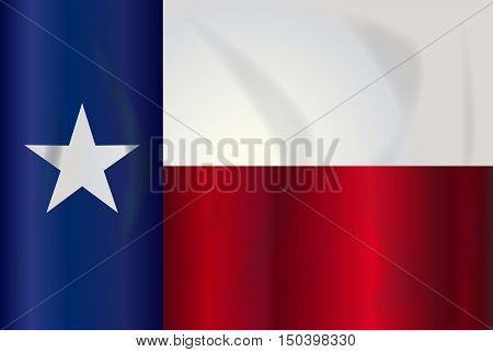The flag of the USA state of TEXAS