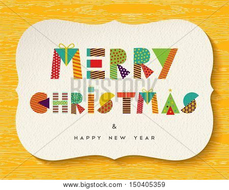 Merry Christmas Happy New Year Fun Color Design
