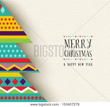 Merry Christmas And New Year Fun Tree Design