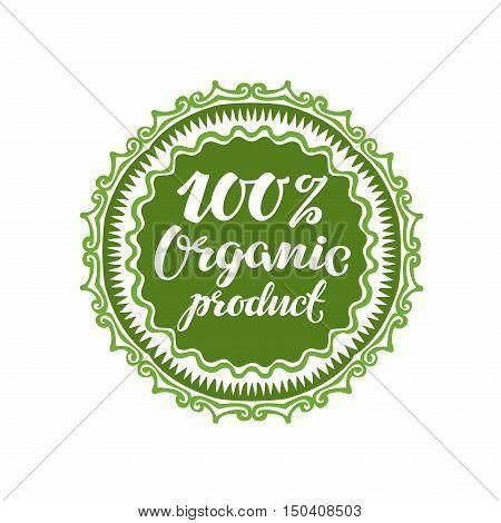 Organic product. Vector illustration isolated on white background