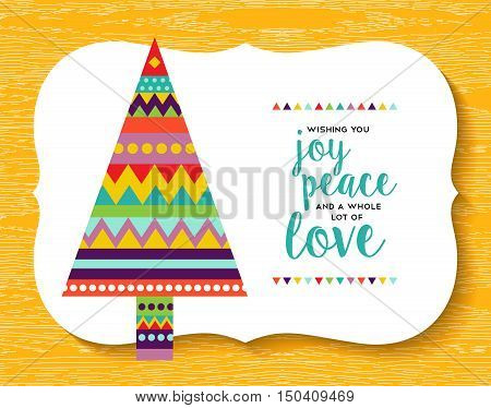 Christmas Pine Tree Geometry Design In Fun Colors
