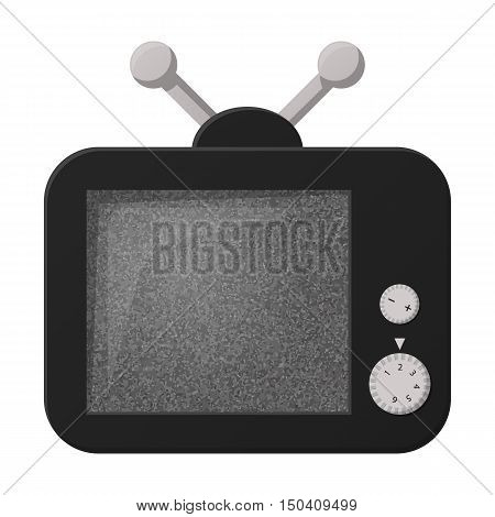 Tv flat icon with long shadow for web design
