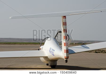 The Glider Grob G103 Twin Astir Ii In Sde-teyman Airport. Beer-sheva. Israel