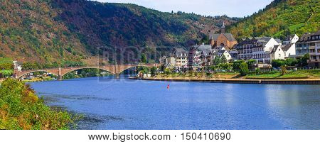 Picturesque town Cochem in Rhine river in Germany