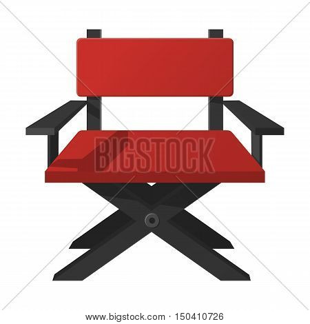 director chair flat icon with long shadow for web design
