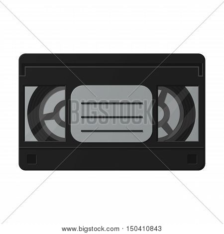 videotape flat icon with long shadow for web design