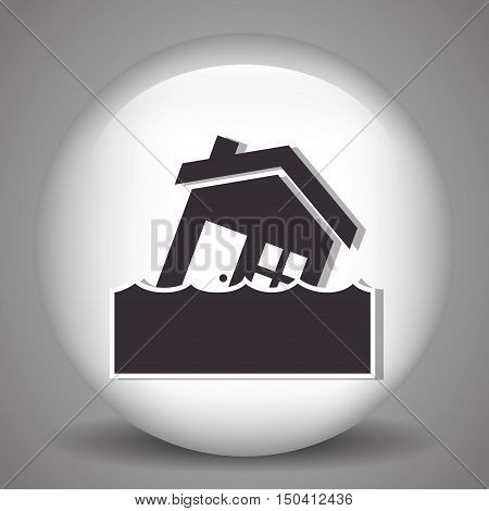 house inundation insurance and property home safety. vector illustration