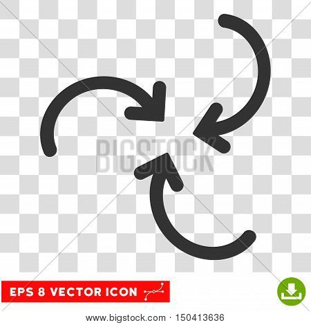 Whirl Arrows round icon. Vector EPS illustration style is flat iconic symbol, gray color, transparent background.