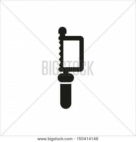 Hacksaw icon on white background Created For Mobile Web Decor Print Products Applications. Icon isolated. Vector illustration.