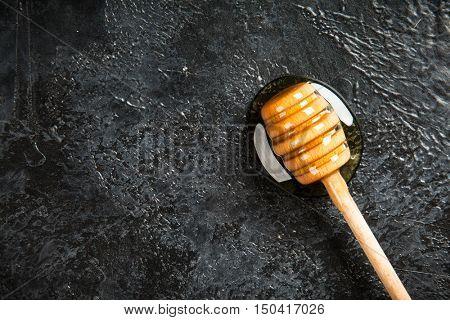 Honey dipper closeup