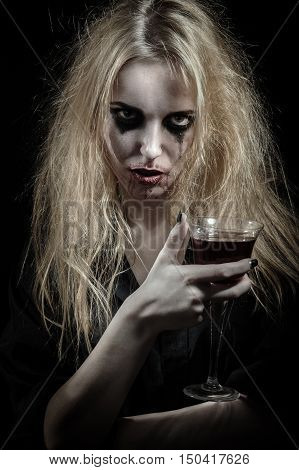 Witch With Bloody Glass