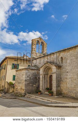 Collegiate Church Of Sts Quiricus And Julietta In San Quirico D'orcia