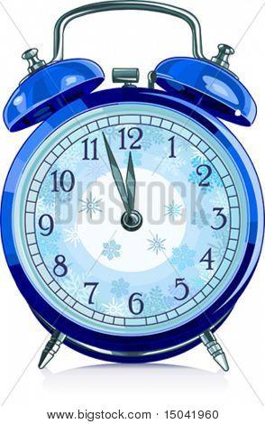 Pulso de disparo de alarme vintage azul