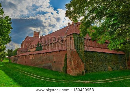 Malbork Castle in Northern Poland, the biggest brick castle in Eastern Europe.