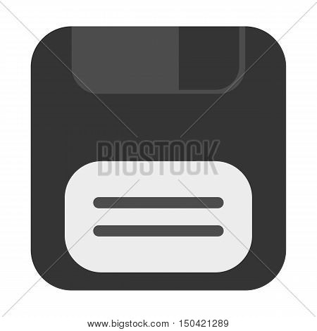 Floppy disk flat icon. Illustration for web and mobile.