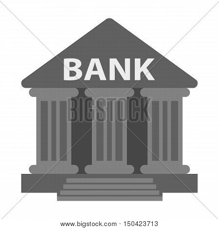 Bank flat icon. Illustration for web and mobile.