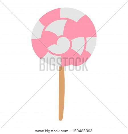 Lolipop candy symbol vector autumn fear creepy traditional sign. Halloween horror design icon. Celebration october halloween symbol.
