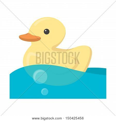 Duck toy cartoon icon. Illustration for web and mobile.