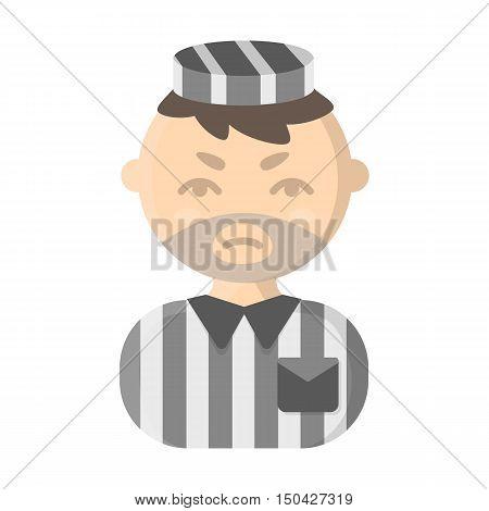 Prisoner cartoon icon. Illustration for web and mobile.