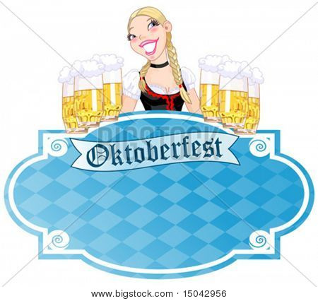 Invitation car¬d to the Oktoberfest