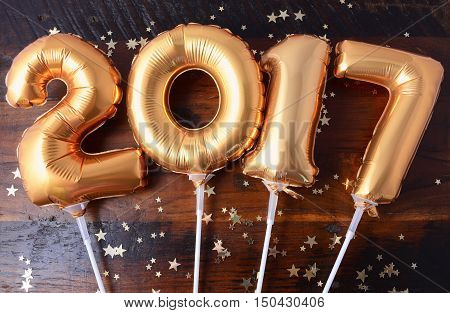 Happy 2017 Gold New Year Balloon