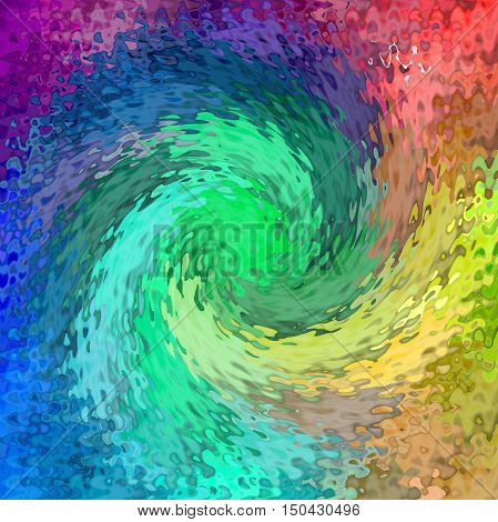 Abstract coloring background of the spectrums gradient with visual lighting,spherize, wave and twirl effects.Good for your project design