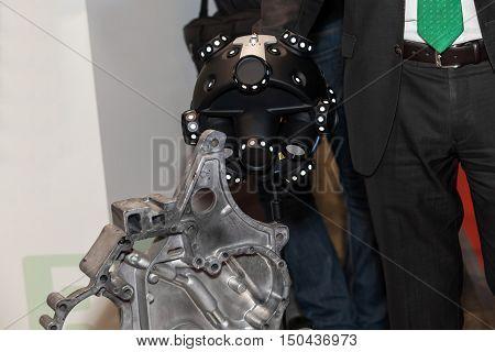 Optical CMM 3D Scanner in man hand