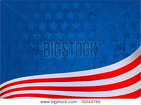 An American flag star and stripe background