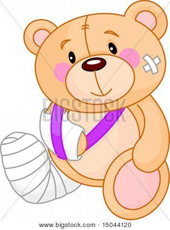 Very cute Sick Teddy Bear. Get well