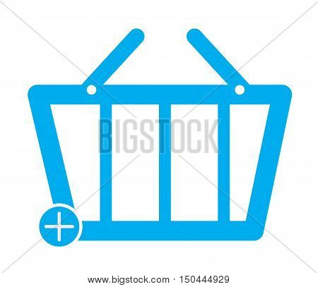 Add To Basket Commerce Button. Basket icon.