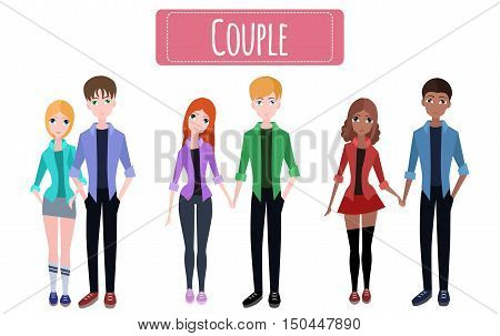 Set various flat couples for your creativity