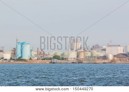 Landscape Of Industry At Port.