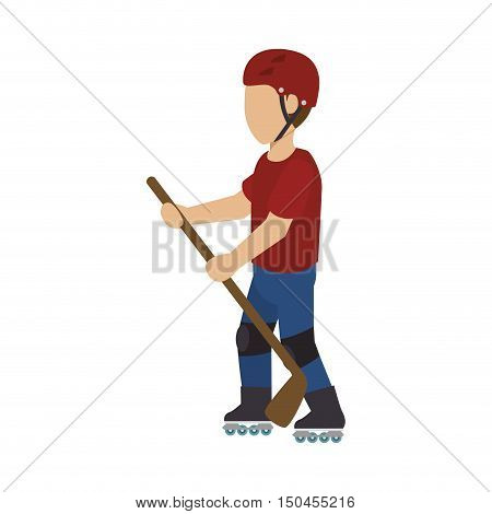 rock-climber man climbing a rock wall with green backpack. extreme sport. vector illustration
