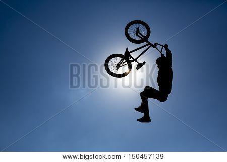 Bike Jump Silhouette