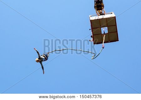 Old Woman Bungee Jumping