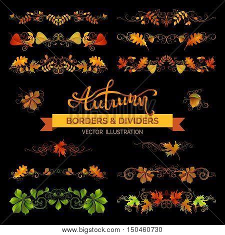 Set Of Autumn Design Elements.