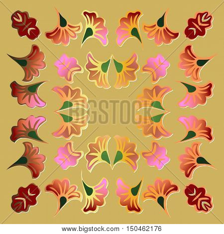 traditional or orient flower pattern. vector illustration
