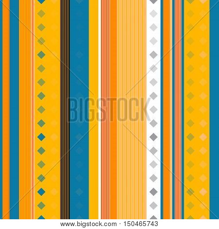 Seamless striped pattern with diamonds suitable for the textile industry.Vector