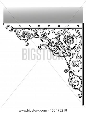 The artistic forging Wrought Iron products visor