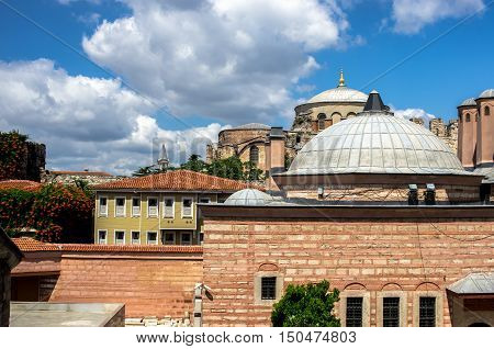 Another view of the magnificent Hagia Sophia, Istanbul, Turkey