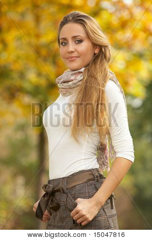 20-25 years old beautiful sexy woman portrait at outdoors