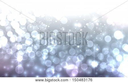 Blue luminous background. Vector illustration.