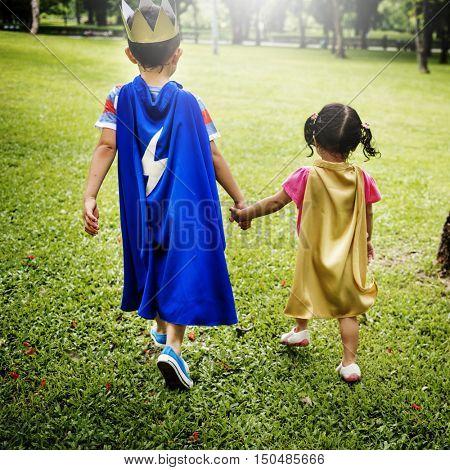 Siblings Dressup Playtime Park Concept