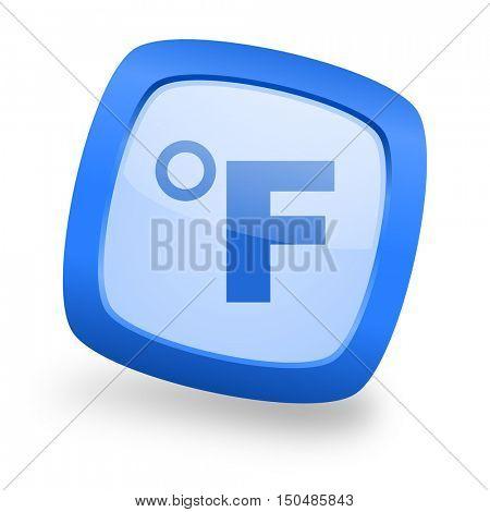 fahrenheit blue glossy web design icon