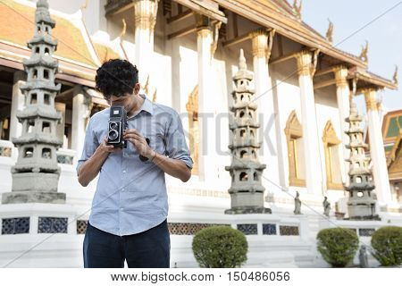 Travel Trip  Vacation Camera Photo Memory Couple Concept