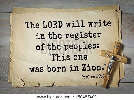 TOP-1000.  Bible verses from Psalms.The LORD will write in the register of the peoples:
