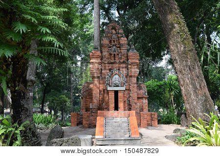 Ancient Brick Cham Tower And Pagoda