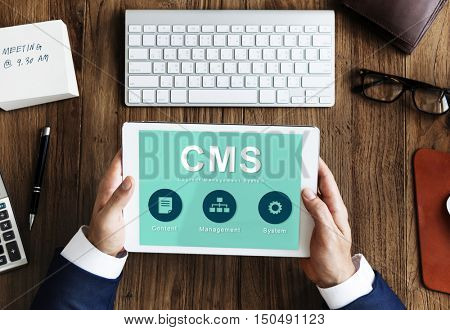 Content Management System Strategy CMS Concept