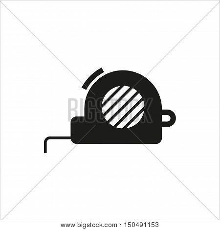 Tape measure icon on white background Created For Mobile Web Decor Print Products Applications. Icon isolated. Vector illustration.