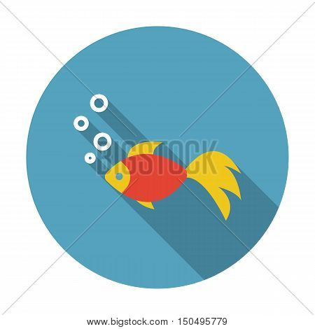 Gold fish icon of vector illustration for web and mobile design